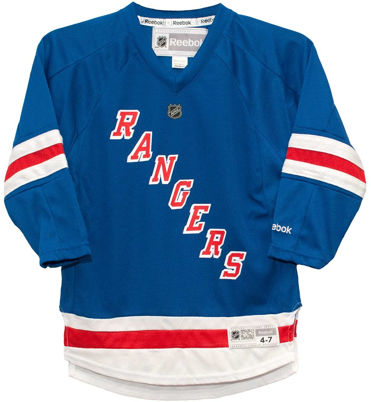 super popular ce1d6 52047 outlet New York Rangers Home Blue Replica Child 4-7 Jersey ...
