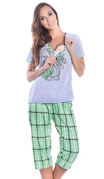 Mija Arts - Pijama Entero - para Mujer Grau/Grun Medium / EU38