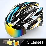 V-Best Bike Cycling Helmet with Detachable Magnetic Goggles Visor Shield Adjustable Men Women Road