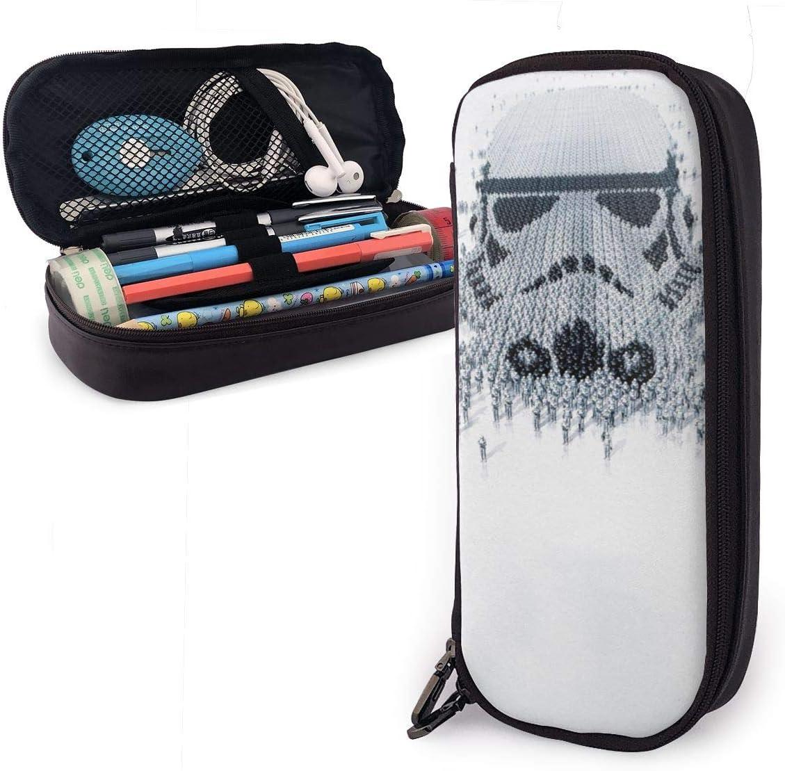 Estuche de piel Star Wars, de gran capacidad, con cremallera duradera para artículos de papelería y otros suministros escolares: Amazon.es: Oficina y papelería