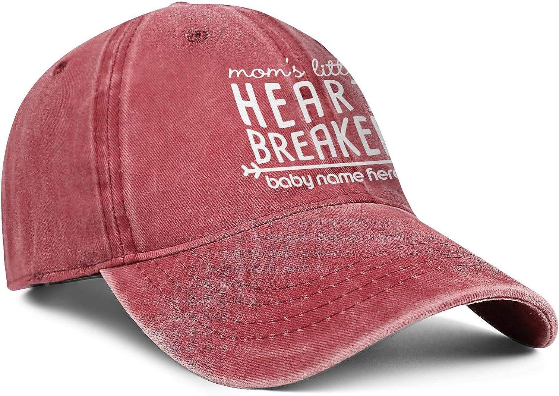 Mommys Little Heart Breaker Baby Name Here Denim Hat Sports Caps Men//Women Classic Trucker Caps