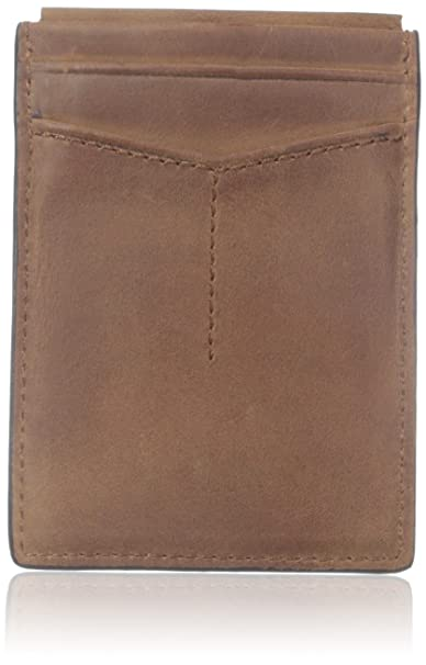 huge selection of 3ea9b 91f68 Fossil Men's Quinn Magnetic Card Case, Brown, One Size: Fossil ...