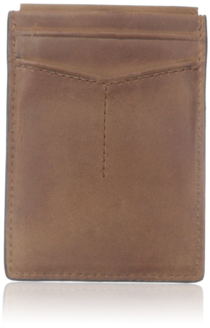 Fossil Men's Quinn Magnetic Card Holder, Brown, One Size
