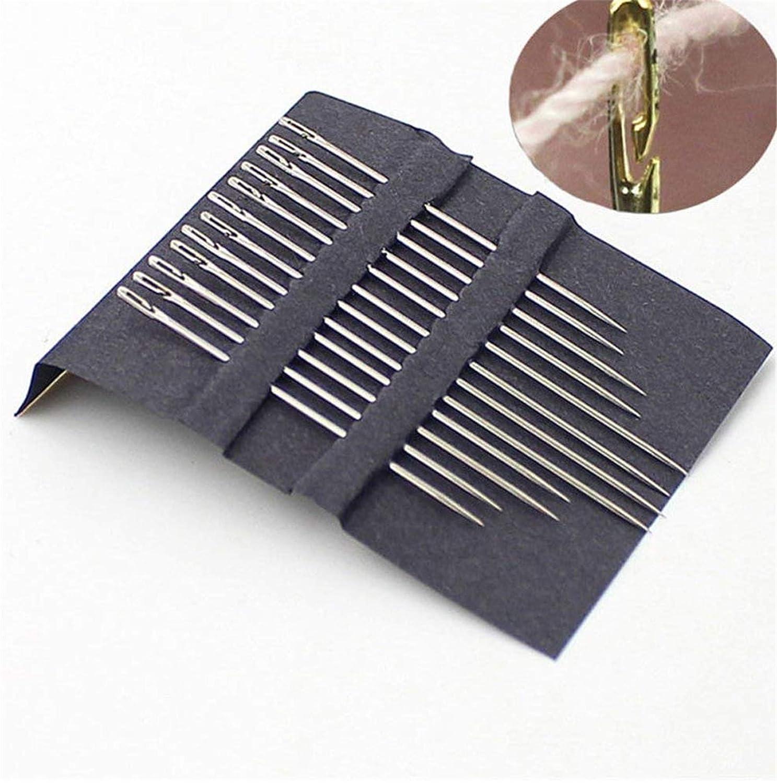 3 paquetes funda de costura con enhebrador para bordado Juego de 30 agujas de coser a mano surtidas