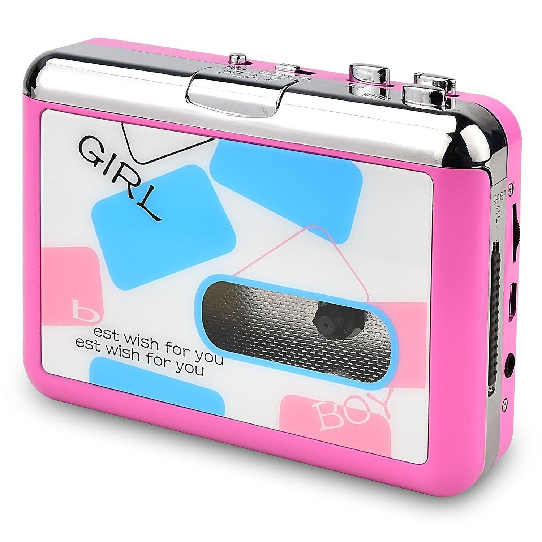 DIGITNOW! Portable de Cassette Audio à MP3 convertisseur avec écouteurs CD Quickstar(Jaune)