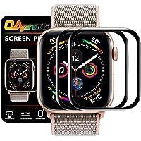 【第2世代 / ガイド枠付き】OAproda Apple Watch Series 5/4 保護フィルム 44mm 2枚セット エッジ加工 2018/2019新型
