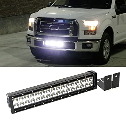 Amazon Ijdmtoy Plete High Power Led Light Bar W Lower. Ijdmtoy Plete High Power Led Light Bar W Lower Bumper Insert Area Mounting Brackets And. Ford. 2015 Ford F 150 Wiring At Scoala.co