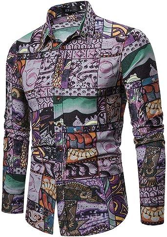 Camisetas Manga Larga Slim Fit, Camisetas Interior de Manga Larga con Cuello Blusa Invierno Camisetas Termicas Originales Camisa Cuadros Hombre para Fiesta: Amazon.es: Ropa y accesorios