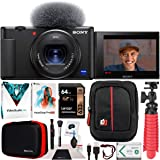 Sony ZV-1 Compact Digital Vlogging 4K HDR Video Camera for Content Creators & Vloggers DCZV1/B Bundle with Deco Gear…
