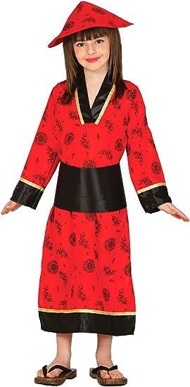 Guirca - Disfraz de china con vestido y gorro, para niños des 10 ...