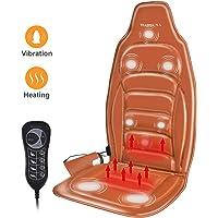 Massagesitzauflage Massageauflage Rückenmassagegerät mit Vibration und Wärmefunktion Massage Matte mit 8 Motoren 5 Auto-Programme 4 Modi 3-Geschwindigkeiten für Nacken Schulter Rücken und Gesäß