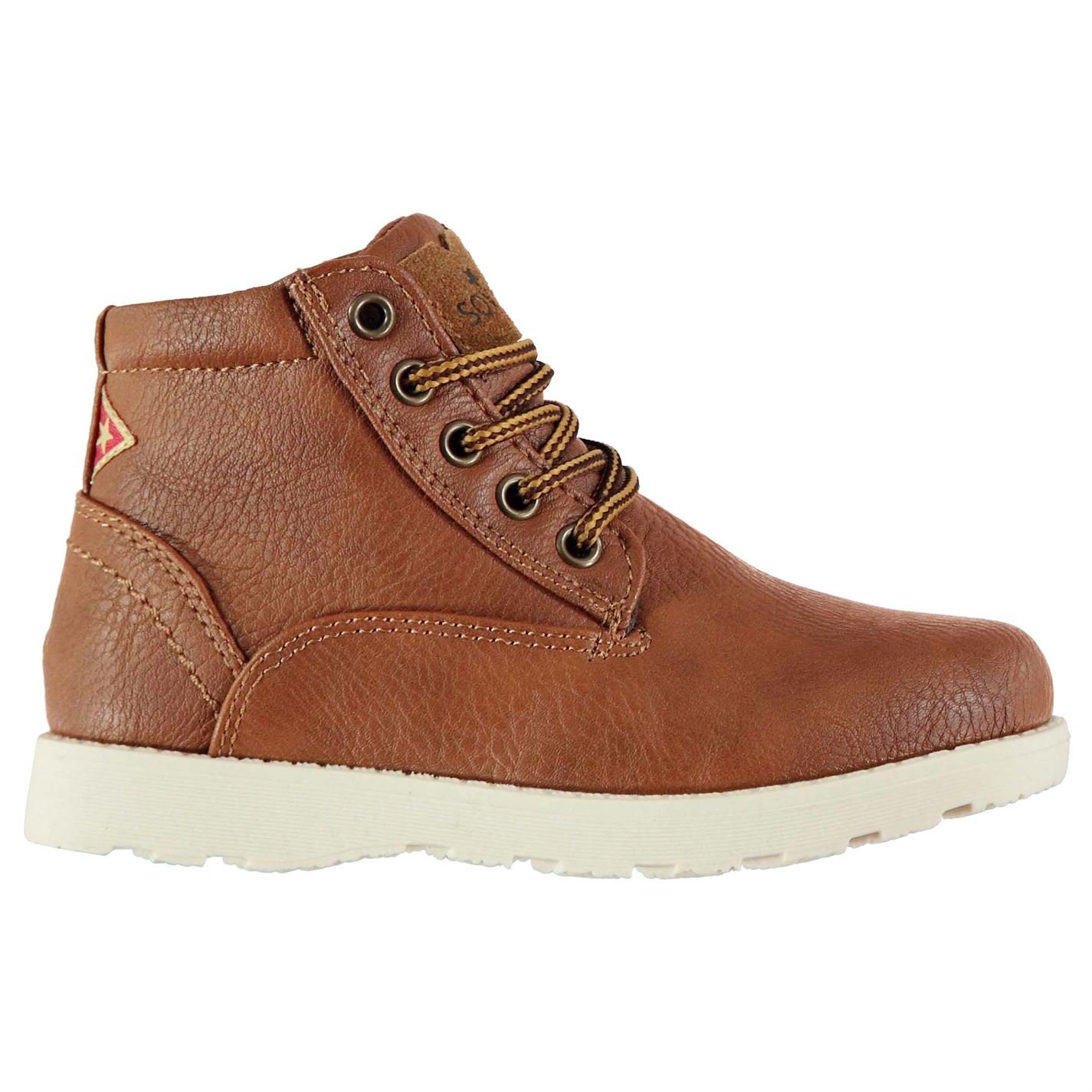 Soviet Boys Remix Ankle Boots Shoes Kids Lace Up Tonal Stitching Synthetic Tan UK C12 (31)