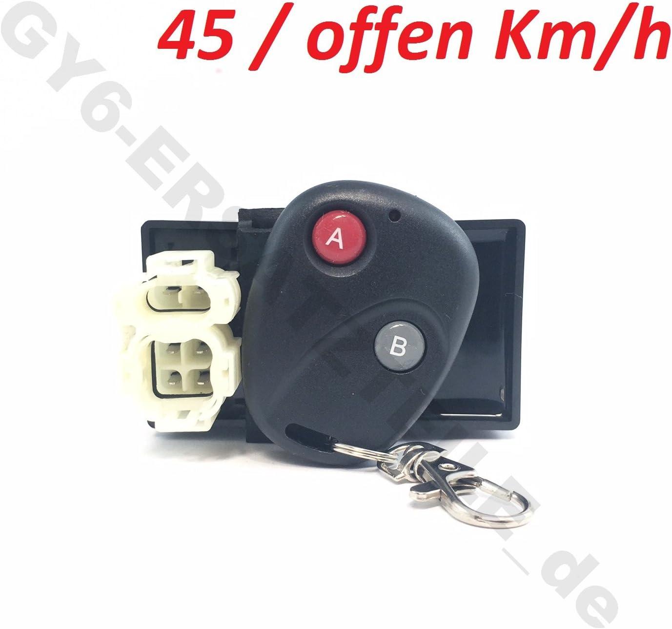 A+B - 45 //offen km//h SCHALTBAR FERNBEDIENUNG 6 Polig f/ür BAUMARKT- /& CHINA ROLLER 4-TAKT 139QMA /& 139QMB GY6 MOTOR AC Z/ÜNDUNG AC Z/ÜNDUNG 4-TAKT CDI//Z/ÜNDEINHEIT inkl