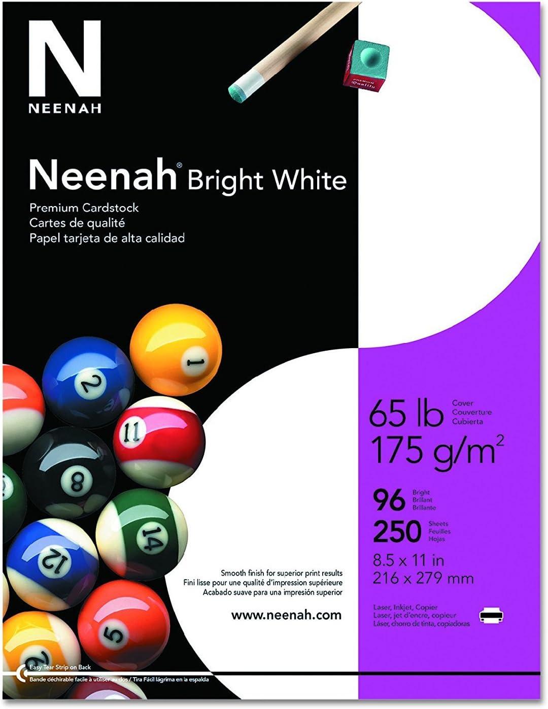 Neenah Bright White Cardstock, 8.5