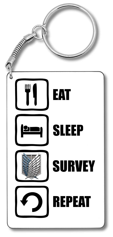Attack On Titan Inspired Eat Sleep Survey Repeat Survey ...