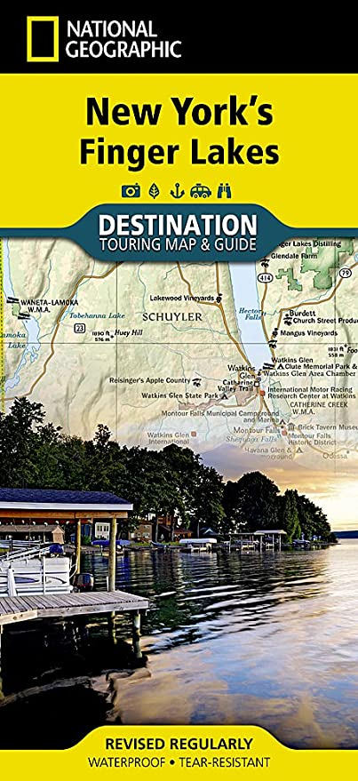 New York\'s Finger Lakes (National Geographic Destination Map ...
