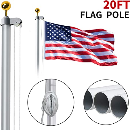 Gray Quantity 4 Super Flag /& Pole Kits