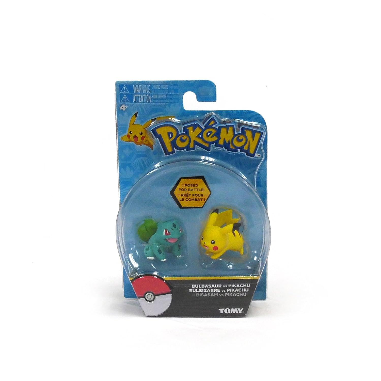 Pok/émon 2 Pack Small Figures Pikachu And Bulbasaur TOMY T18757
