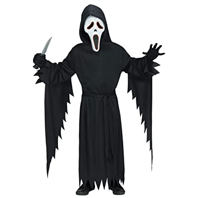 Kids E.L. Ghost Face Scream Costume: Clothing