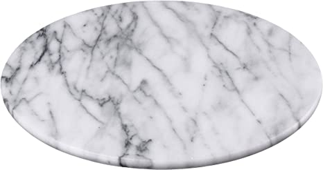 Creative Home Natural Marble Round Board Cheese Dessert Fruit Serving Plate