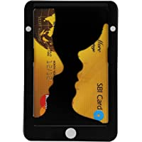 PITAKA Minimalist Aluminum Magnetic Modular Card Holder Slim Rfid Blocking Wallet Black