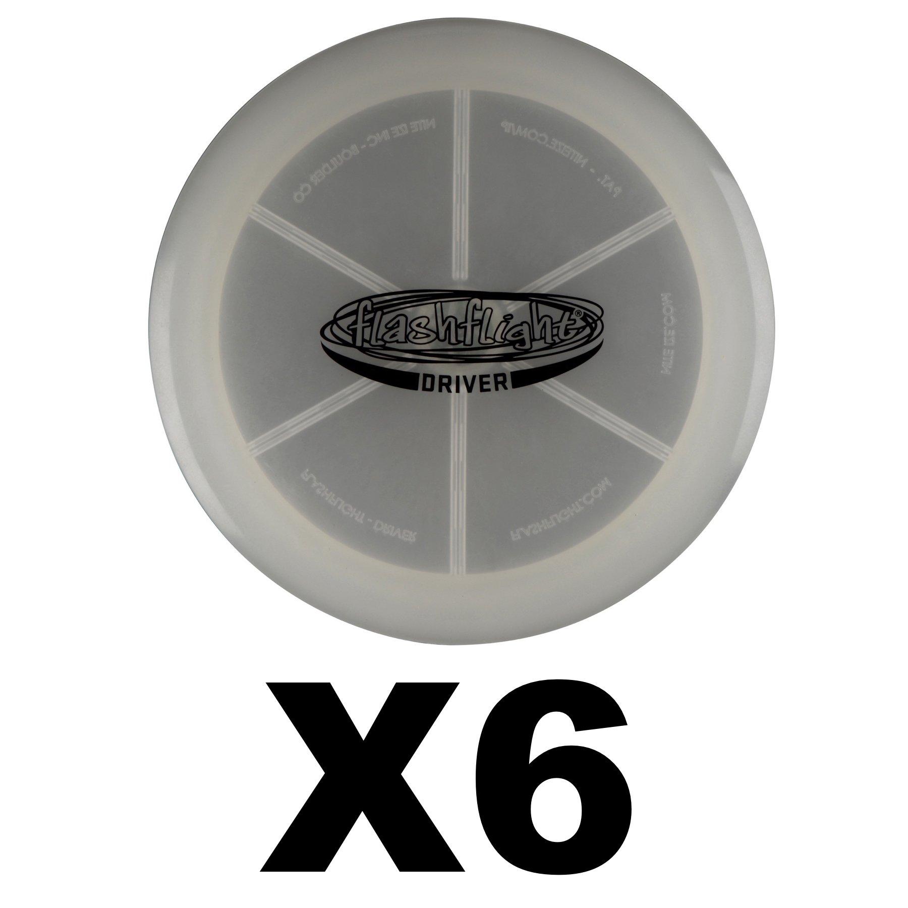 Nite Ize Flashflight LED Disc Golf Disco Driver Light-Up Frisbee Golf (6-Pack)