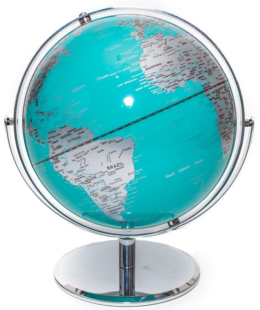 Turquoise Globe of The World 10''