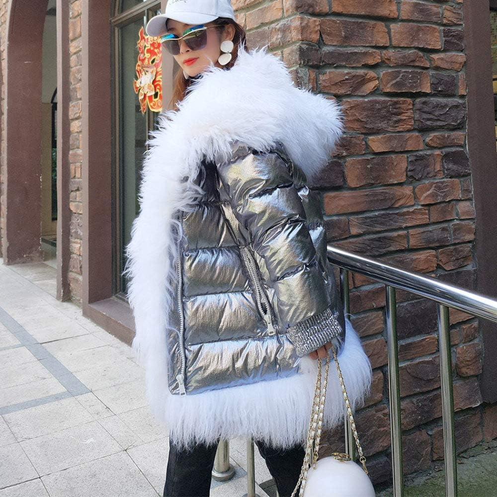 JKYIUBG Doudoune Manteau Long d'hiver de Manteau Chaud d'hiver de Femmes d'hiver de Manteau en MongolieParka de Manteau en Duvet 1