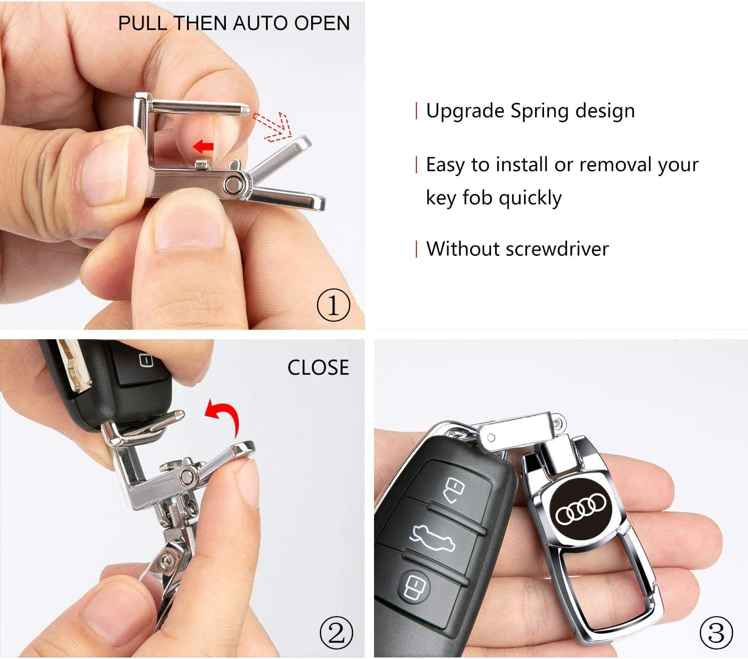 1pcs Leather Car Logo Keychain Key Chain Keyring Suit for Mercedes Benz A C E S Class Series,GLK CLA GLA GLC GLE CLS SLK AMG Series Family Present for Man and Woman