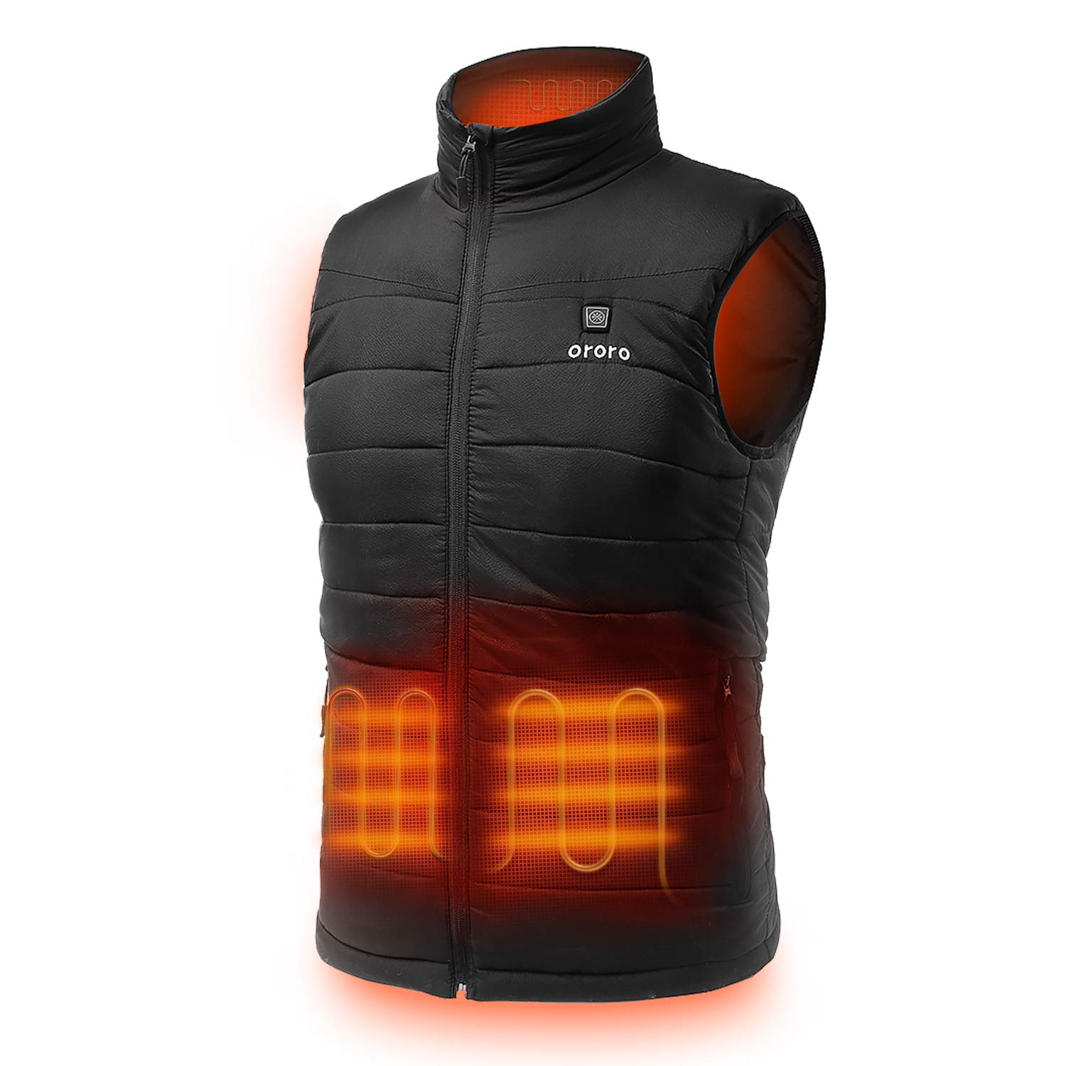 ORORO Men's Lightweight Heated Vest with Battery Pack (XXX-Large) Black by ORORO