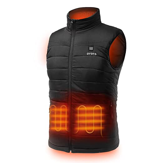 Heated Clothing Electric Clothing Heated Socks Heated Gloves >> Ororo Men S Lightweight Heated Vest With Battery Pack