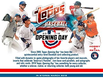 2018 Topps Opening Day Baseball Cards Hobby Box Trading