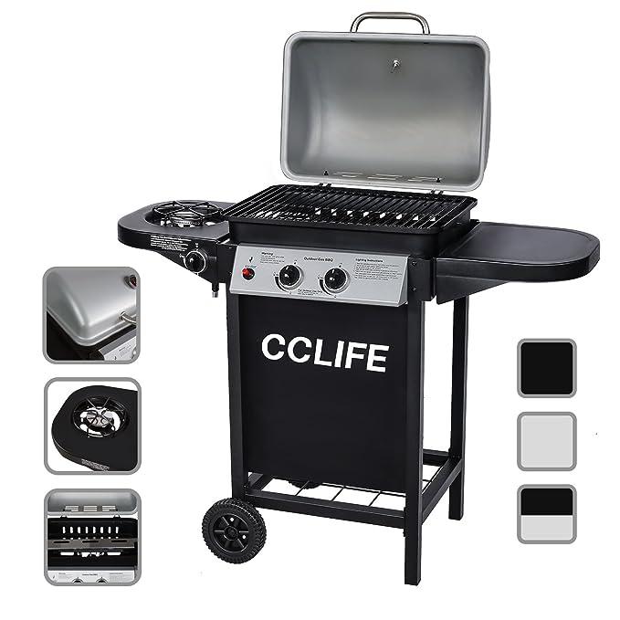 Barbecue Grill BBQ Picnic Gas Grill Garden Patio 2 1 Eglemtek/® TM-Black