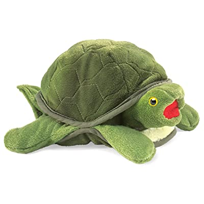 Folkmanis Baby Turtle Hand Puppet: Toys & Games [5Bkhe1901287]