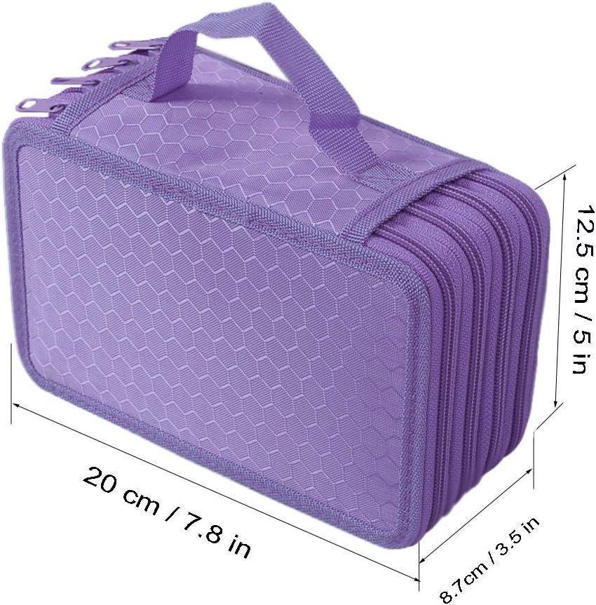 Hipiwe Trousse multi-compartiments grande capacit/é pouvant contenir 72/crayons violet