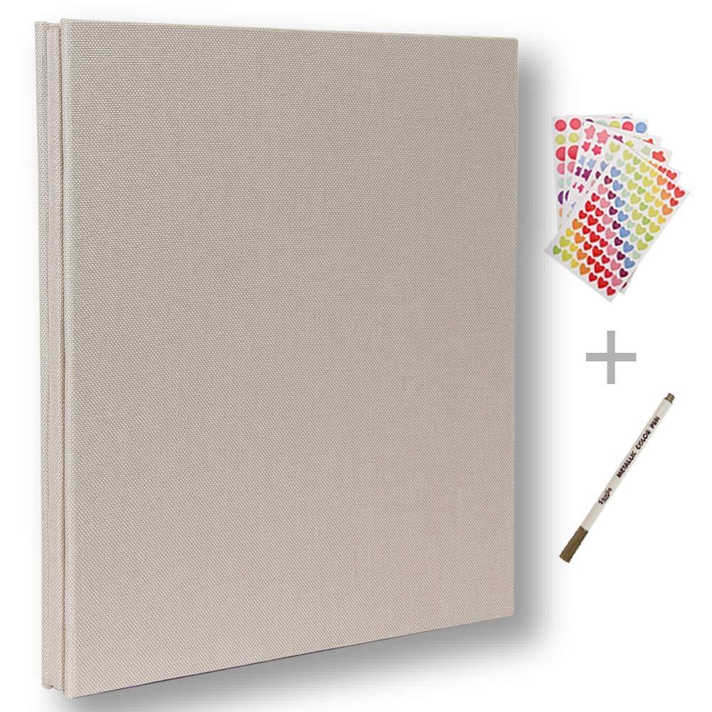 超美品 フォトアルバム B07DC3N8LK、フォトスクラップブックアルバム40ページハードカバーの長さ11 x幅10.6(インチ)フォトアルバム収納ボックス付きDIYアクセサリーキット(ホワイト) B07DC3N8LK, 千厩町:af819d58 --- ciadaterra.com
