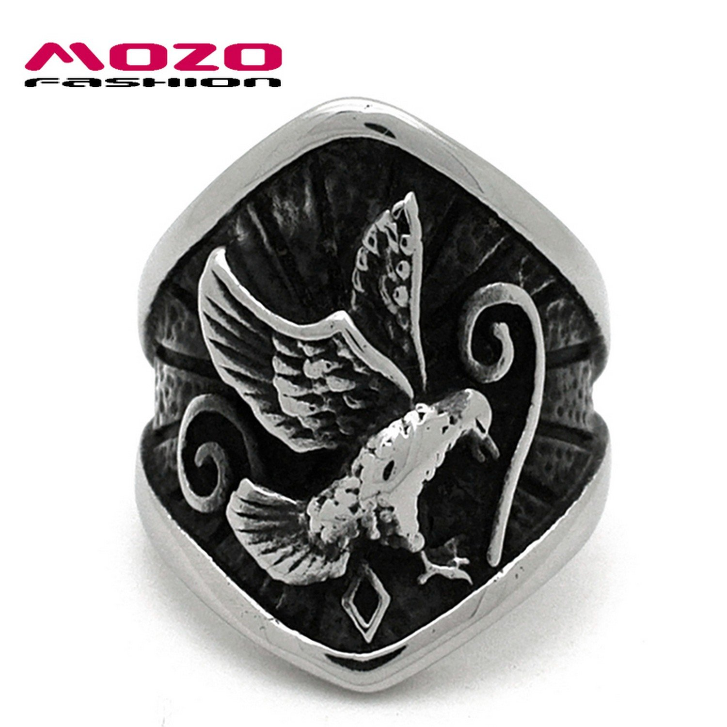 Cherryn Jewelry Fashion jewelry 316L stainless steel Ring Eagle pattern Punk OverbeaRing vintage men Ring cool for man MSA509
