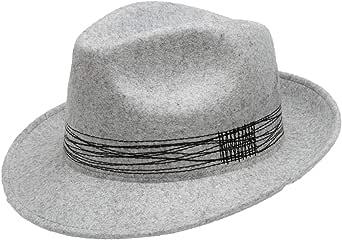 Capogiro Firenze, Bolso de hombre y mujer de fieltro con pespuntes en contraste a lo largo del giro, talla M, color gris perla con pespuntes negro
