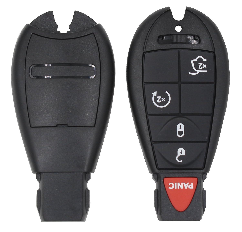 5 pulsante entrata chiave a distanza di ricambio per Chrysler Dodge Jeep Grand Cherokee Commander Smart inserire fob Lama
