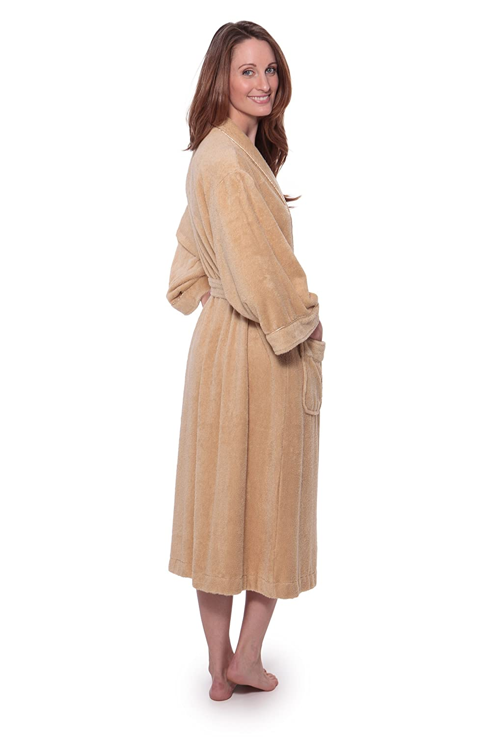 Women s Luxury Terry Cloth Bathrobe - Bamboo Viscose Robe by Texere  (Ecovaganza) at Amazon Women s Clothing store  cfd0ef16a