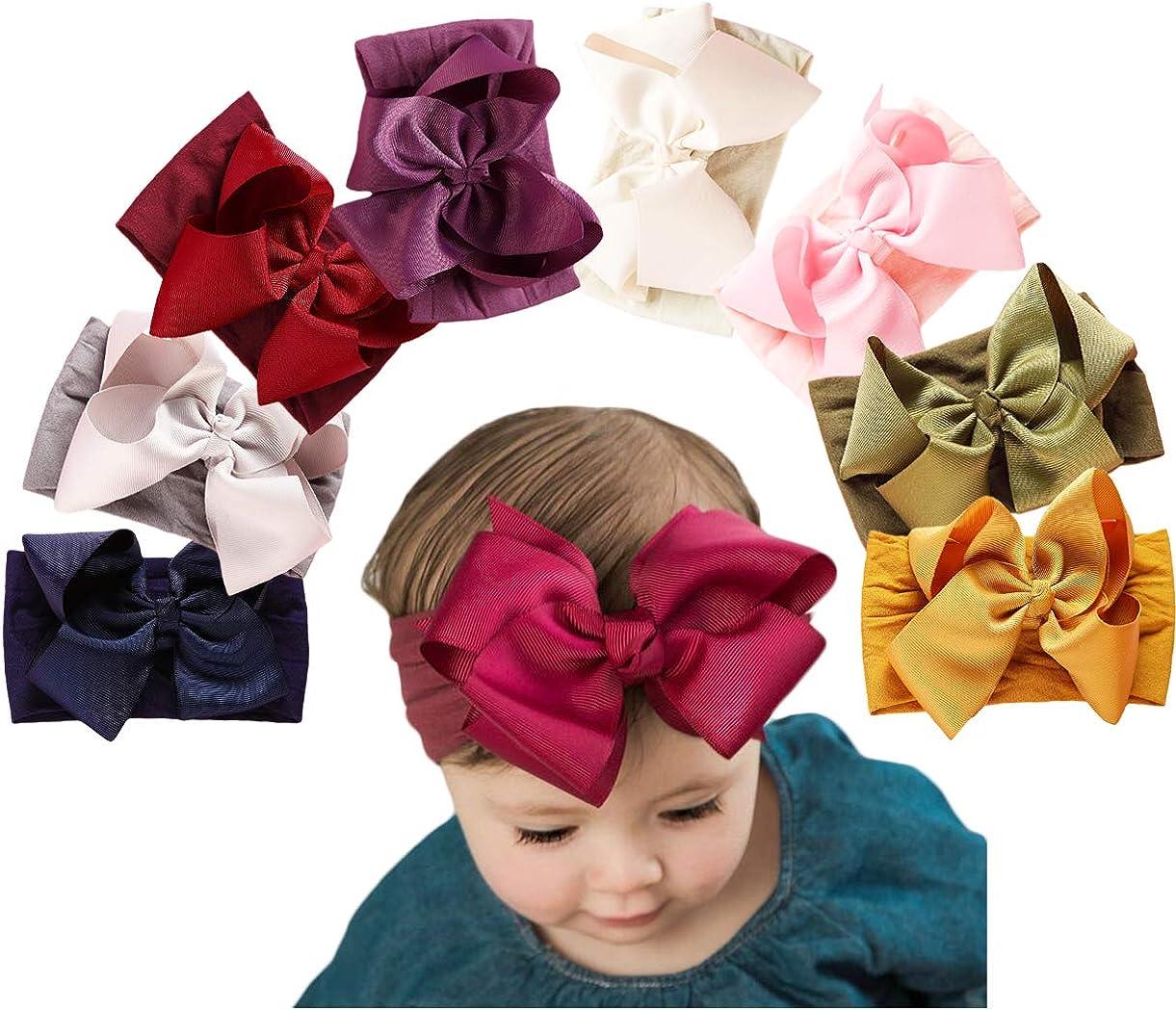 Baby Girl Nylon Headbands,Newborn Infant Toddler Headbands for Girls,Baby Bows and Headbands Child Hair Accessories