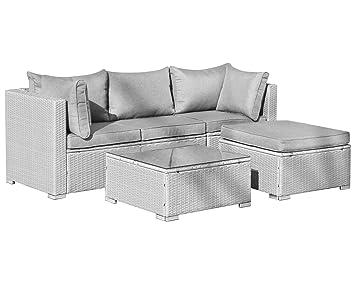 Gut gemocht Amazon.de: Hansson Gartenmöbel Polyrattan Lounge Sitzgruppe, Grau RZ97