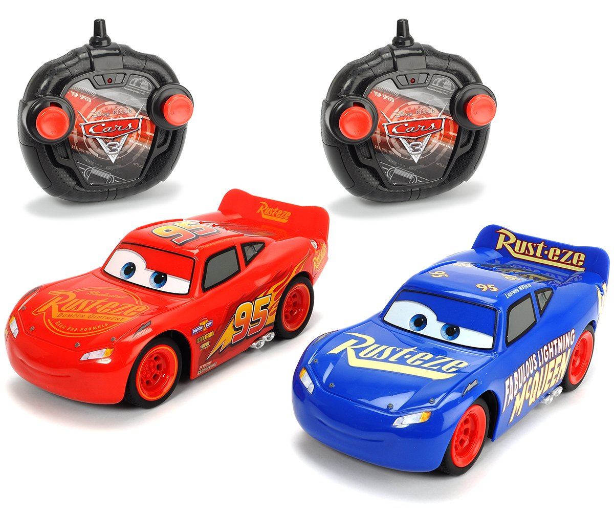 Dickie 515.841.000,3 cm Cars 3 – Lightning McQueen RC Veicolo Twin Pack