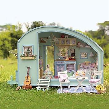 Regalo de cumpleaños de Navidad bricolaje muñeca casa muñeca de madera casas de muñecas miniatura kit