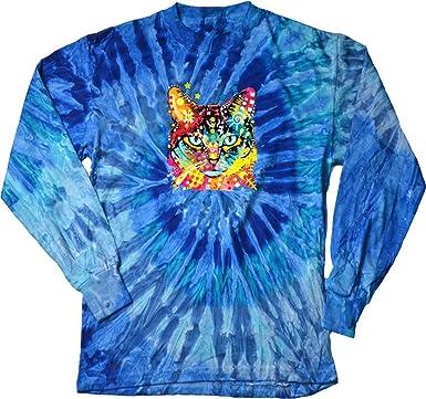 74eedca32 Amazon.com: Buy Cool Shirts Mens Colorful Cat Blue Eyes Cat Long ...