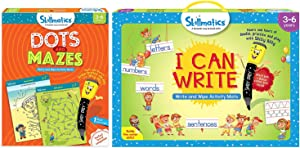 Skillmatics I Can Write + Dots and Mazes Bundle (Ages 3-6) | 12 Reusable Activity Mats with Dry Erase Markers | Learn from Home