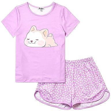 649b3455a7 Amazon.com  Jxstar Girls Unicorn Mermaid Flamingo Pajamas Cotton Set ...