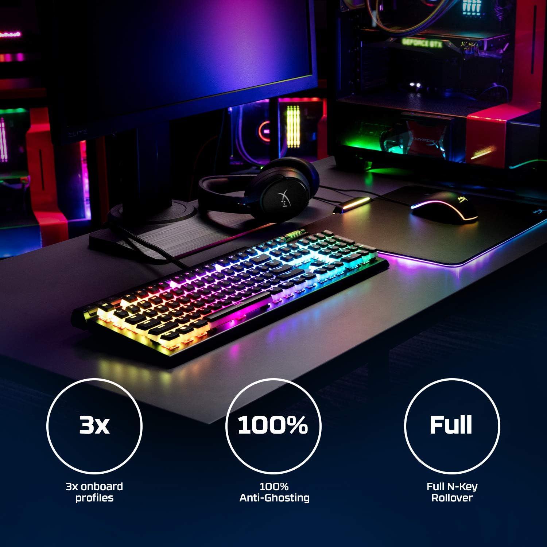 HyperX Alloy Elite 2 – Teclado mecánico para Videojuegos, personalización de luz y Macro controlada por Software, Controles Multimedia, ...