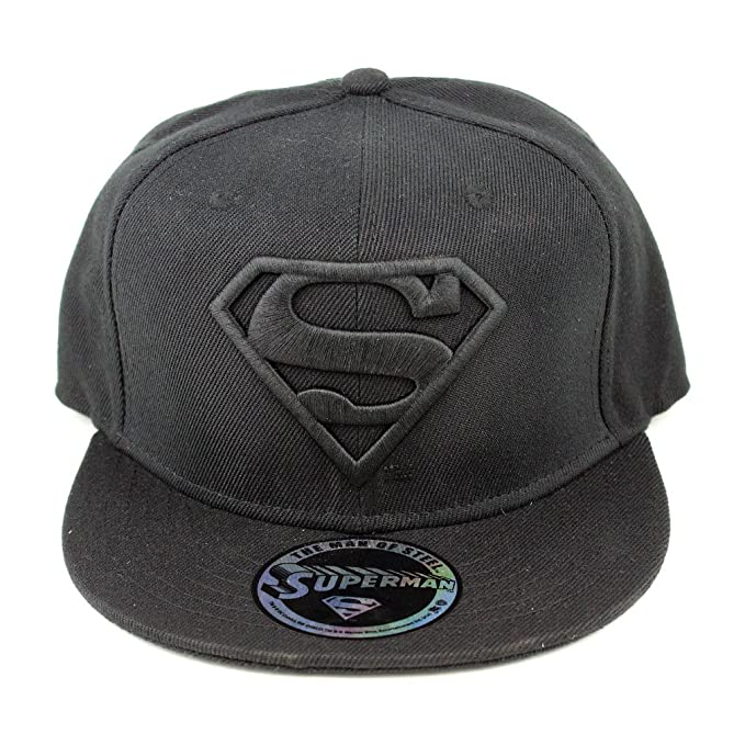DC Comics Superman Herren Baseball Cap - Classic Logo Snapback Cap Schwarz   Amazon.de  Spielzeug 14a1af4eb2