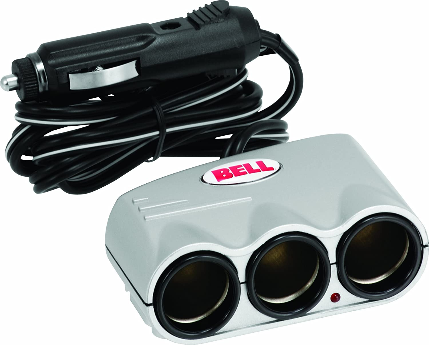 Bell Automotive 22-1-39061-8 Silver Triple Socket with 4 Cord